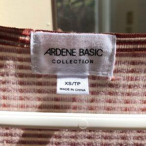 Ardene Dresses - Cute Cream and Orangey-Brown Striped Dress